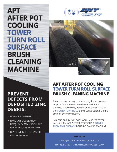 AFTER POT COOLING (APC) TOWER TURN ROLL SURFACE CLEANING BRUSH MACHINE BROCHURE