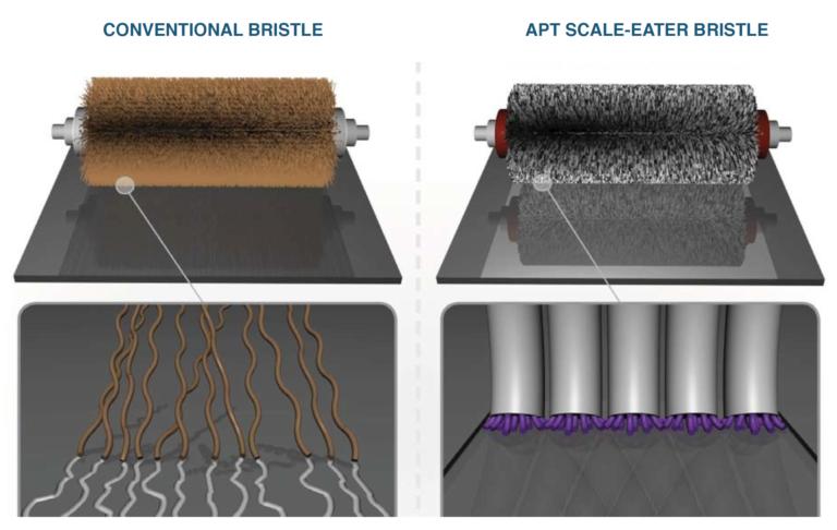 Abrasive bristle scrubber brush comparison