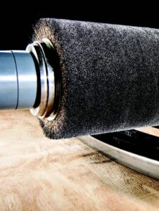 Abrasive industrial scrubber brush