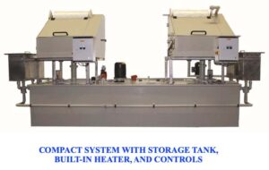 Compact ultrasonic wire cleaning system