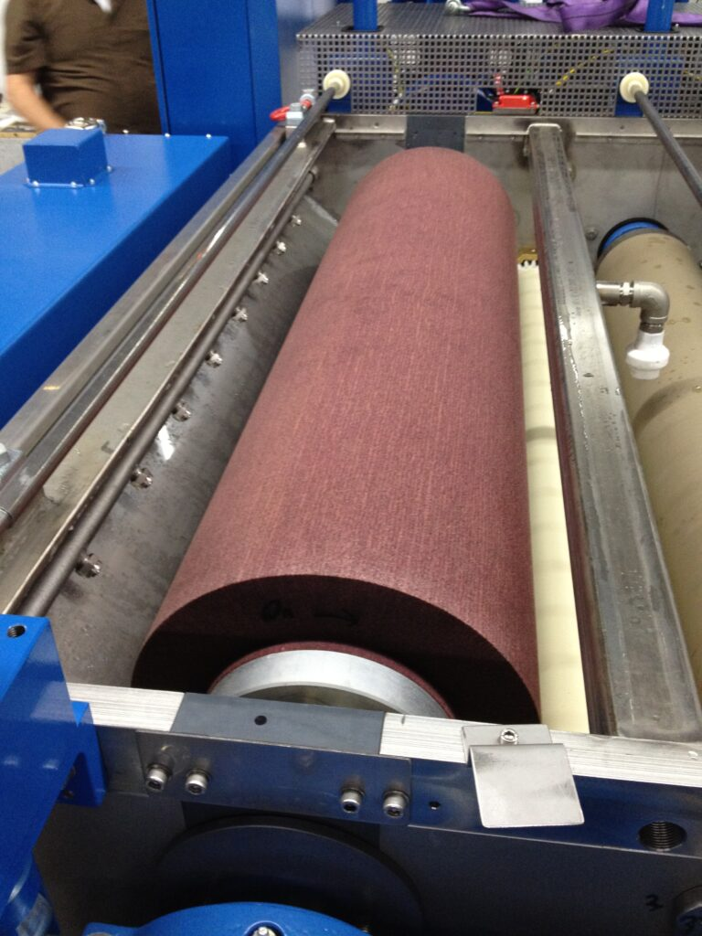 Falkenrich scotchbrite nonwoven brush for metal strip cleaning