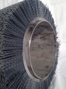 Industrial Scrubber brush for cleaning metal strip