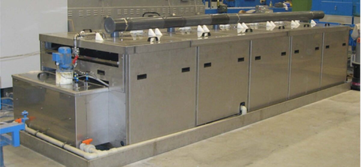 ULTRASONIC CONTINUOUS CLEANING SYSTEMS FOR WIRE ALLOY